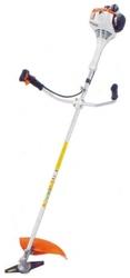 Универсальная мотокоса Stihl FS 55 с двухручной рукояткой для удобства