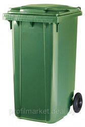 Пластиковый мусорный контейнер 240 л. зеленый
